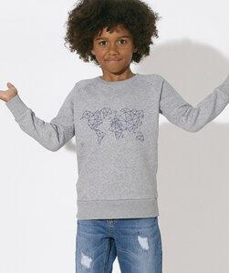 Sweatshirt mit Motiv / Blue Worldmap - Kultgut