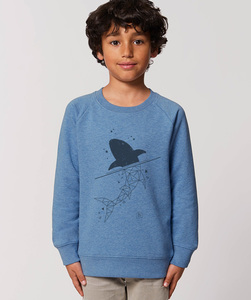 Sweatshirt mit Motiv / Shark - Kultgut