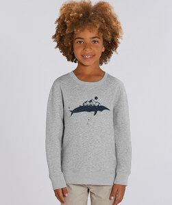 Sweatshirt mit Motiv / Wal - Kultgut