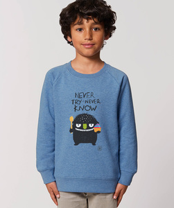 Sweatshirt mit Motiv / Never Try Never Know - Kultgut