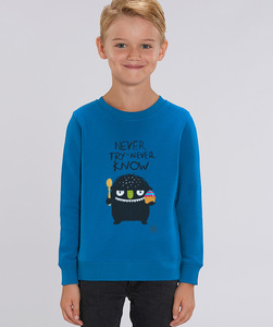 Sweatshirt mit Motiv / Never Try Never Know - Kultgut