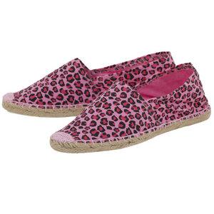 Espadrilles Canvas Unisex Sommerlatschen Leinen Leopard pink - Japanwelt Espadrilles