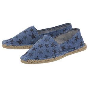 Espadrilles Canvas Unisex Sommerlatschen Leinen Sterne blau - Japanwelt Espadrilles