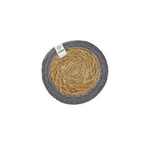 Untersetzer aus Seegras und Jute Ø 10cm - reSpiin