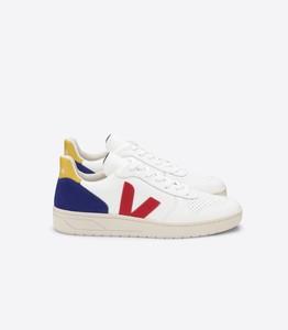 Sneaker Damen - V-10 Leather - Extra White Pekin Cobalt Tonic - Veja
