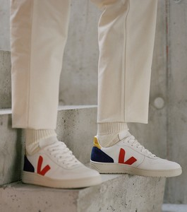 Sneaker Herren - V-10 Leather - Extra White Pekin Cobalt Tonic - Veja