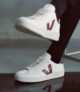 Sneaker Damen - V-12 - Extra White Marsala Nautico - Veja