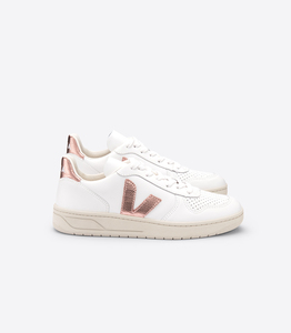 Sneaker Damen - V-10 Leather - Extra White Nacre - Veja
