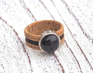 Damen Ring aus Kork vegan 2 farbig - Charme-charmant