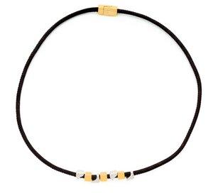 Kork-Kette Artelusa, ein einzigartiges Kork-Schmuckstück mit Gold und Silberfarbigen Schmuckelementen - Artelusa