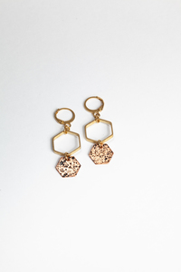 "Ohrringe ""ROJO ORO"" in Gold - ALMA -Faire Streetwear & Schmuck-"
