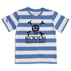Kinder Ringel Kurzarm-T-Shirt BodenSeeRäuber - [be lake]