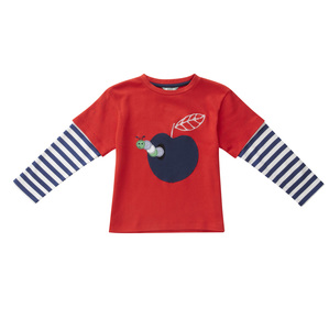 Piccalilly Langarm Shirt blaurot  rotblau  100% Baumwolle( bio)   - piccalilly