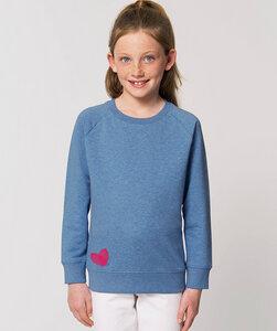 Sweatshirt mit Motiv / Daumenabdruck Herz  - Kultgut