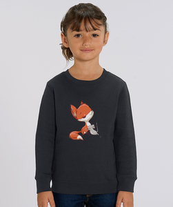 Sweatshirt mit Motiv / Fuchs und Maus - Kultgut
