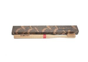 Bambus Zahnbürste mit farbigem Streifen - boochen