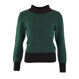 Strickpullover- Sweater ellen black-green  - OY-DI
