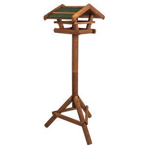 Vogelhaus aus Holz inkl. Ständer ca. 46x22x44cm |Vogelhäuschen - Skojig