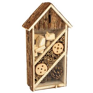 Insektenhotel 19,5x10x37cm Bienenhotel UnterschlupfInsektenhaus - Bambuswald