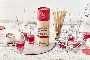 Nachhaltige & formstabile Trink-Strohhalme aus Weizen (110 Stück)  - 99PANDAS