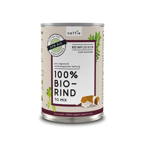100% BIO-RIND Reinfleisch-Nassfutter - naftie