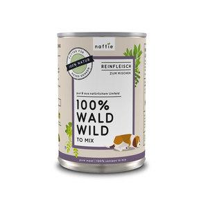 100% WALD WILD Premium-Reinfleisch für Hunde - naftie