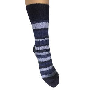 Damen und Herren Ringel Socke reine Bio-Schurwolle - hirsch natur