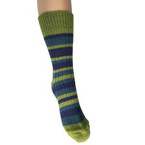Damen/Herren Ringel Socke - hirsch natur