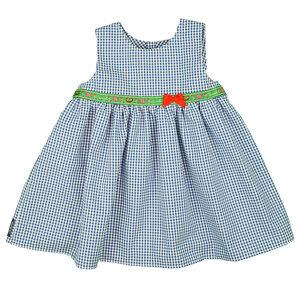 Superschönes Kleid (blau-weiß/rot-weiß) ohne Arm mit Rüschung (54451) - carl&lina