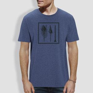 """Herren T-Shirt, """"Muschel"""", Blau - Dark Heather Indigo - little kiwi"""
