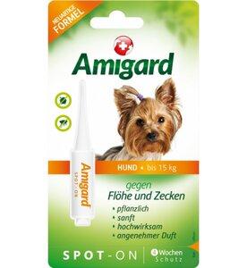 Spot-on für Hunde, natürlicher Zeckenschutz & Flohschutz - Amigard