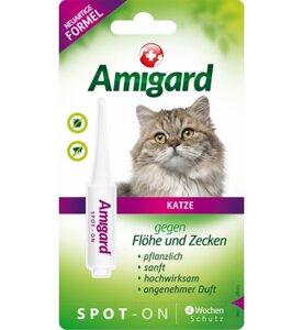 Spot-on für Katzen, natürlicher Zeckenschutz & Flohschutz - Amigard