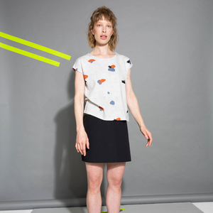Damen Shirt Backyard Weiß Nachhaltig Fair - THOKKTHOKK