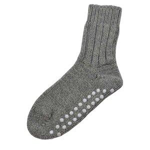 Damen/Herren Norweger Stopper Socke - hirsch natur