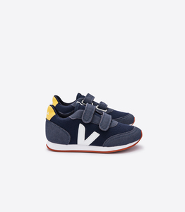 Sneaker Kinder - Arcade B-Mesh - Nautico White Gold Yellow - Veja