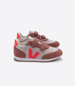 Sneaker Kinder - Arcade Flannel - Cloudy Rose Fluo - Veja