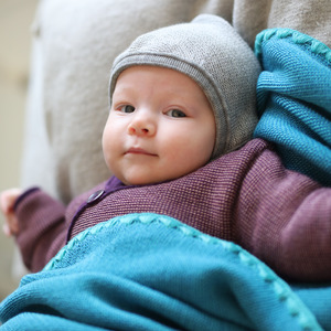 disana Baby Strick-Decke 80 x 100 cm reine Bio-Merinoschurwolle - Disana