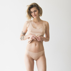 marie - string aus 90% modal und 10% elasthan - erlich textil