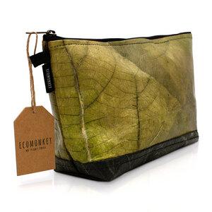 ECOMONKEY®  Kulturbeutel - veganes Leder aus Blättern (Kunstleder) - ECOMONKEY