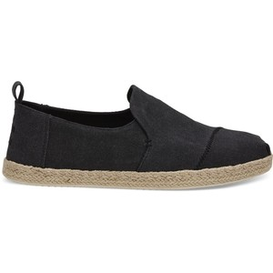 Black Washed Deconstructed Alpargatas Mens - Toms