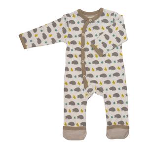Strampler Schlafanzug  2 er Set ohne Fuß plus Lätzchen  - Organcis for kids Pigeon