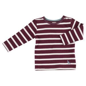 Shirt Langarm Breton Stripe 1-2 Jahre - Organcis for kids Pigeon