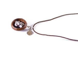 Ebene Eichelhut Kette – Eichhörnchen Silber - Zimelie