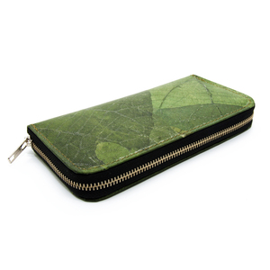 ECOMONKEY® Geldbörse Damen - veganes Leder (Kunstleder) aus Blättern - ECOMONKEY