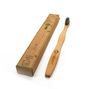Bambus Zahnbürste - Nachhaltig, vegan, weiche Borsten, plastikfrei, 1x - ECOMONKEY