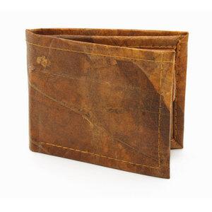 ECOMONKEY® Geldbörse Unisex - kein Münzfach - veganes Leder (Kunstleder) aus Blättern - ECOMONKEY