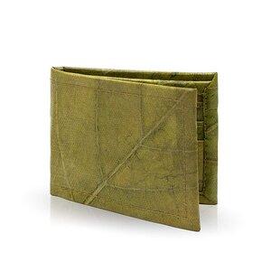 ECOMONKEY® Geldbörse mit Münzfach, vegan (Kunstleder) aus Blättern - ECOMONKEY