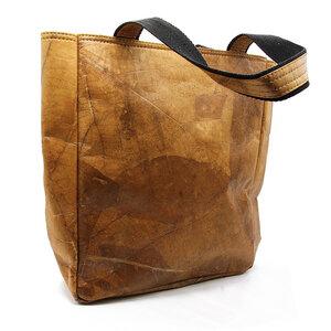 ECOMONKEY®  Handtasche + veganes Leder (Kunstleder) aus Blättern - ECOMONKEY