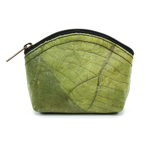 ECOMONKEY®  Münzportemonnaie + veganes Leder (Kunstleder) aus Blättern - ECOMONKEY