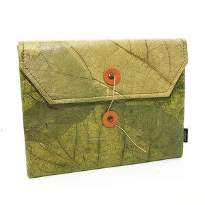 ECOMONKEY®  Tablet Hülle + veganes Leder (Kunstleder) aus Blättern - ECOMONKEY